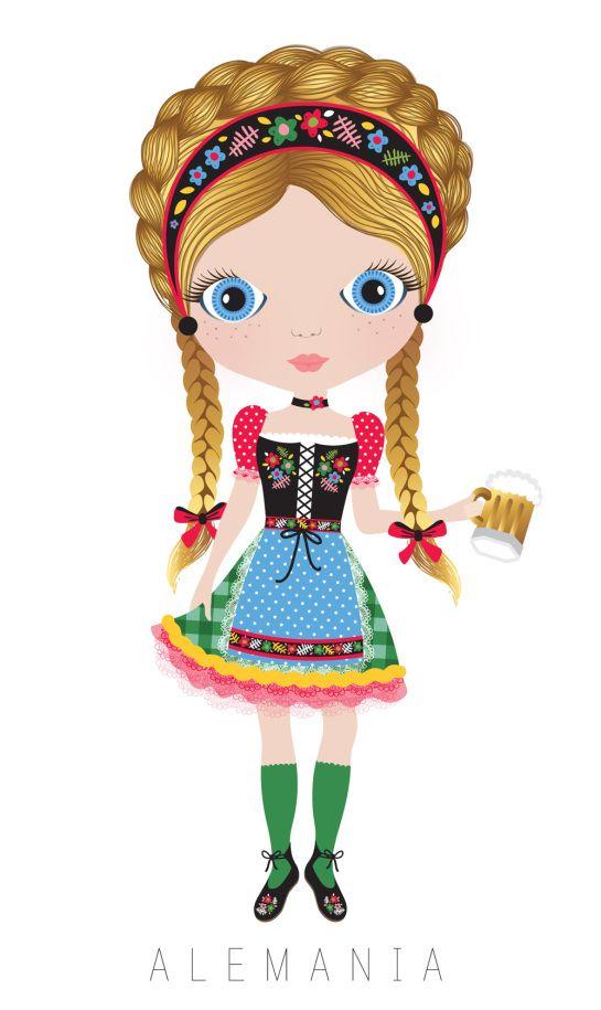 545x915 Alemania Representing Dolls, Clip Art
