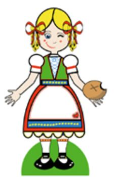 225x350 Clip Art Of Girl Intended For Use In Worksheets And Powerpoint