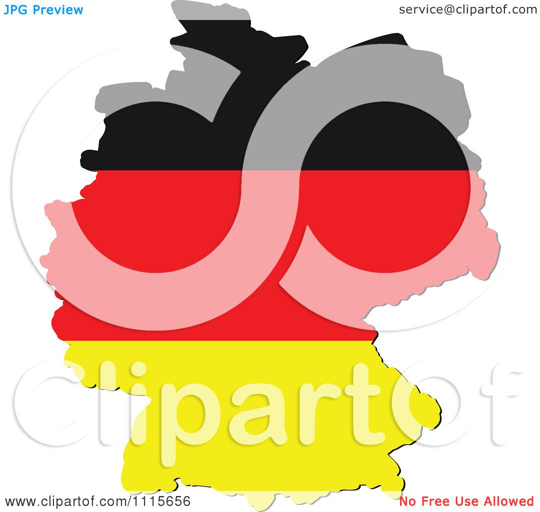 1080x1024 Clipart Germany Map With Flag Colors