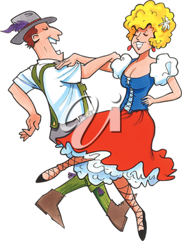 265x350 Dancing German Couple Alemania Free Clipart Images