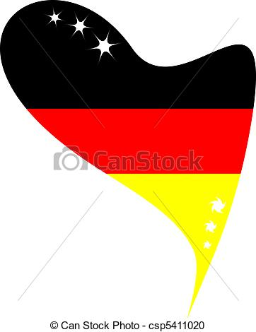 362x470 Flag Germany In Heart. Germany In Heart. Icon Of Germany Vector