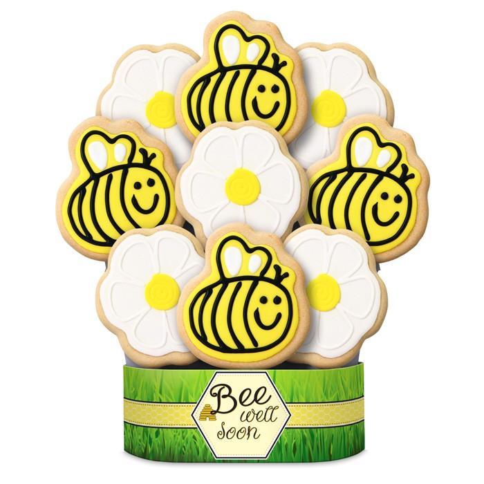 700x700 Bee Well Soon Cookie Bouquet