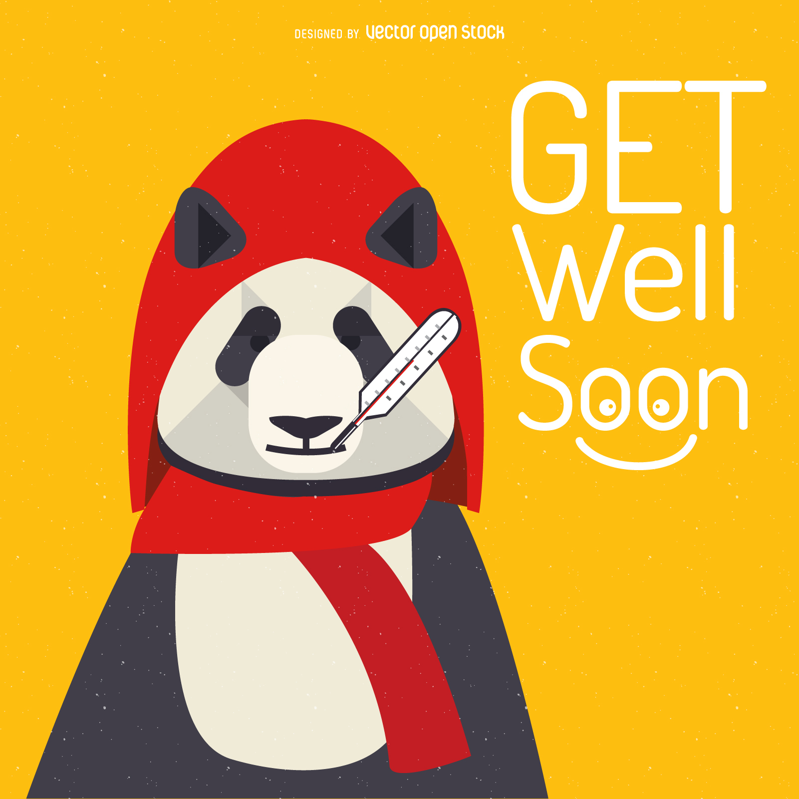 1601x1601 Get Well Soon Panda Card