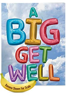 220x320 Get Well Soon Card With Envelope (8.5 X 11) Big