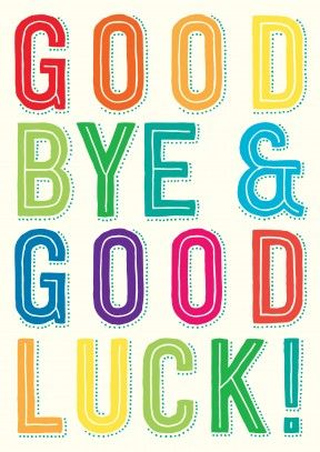 288x407 Goodbye And Good Luck Clipart