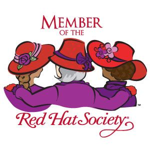 300x300 Red Hat Society Clip Art Red Hat Society Name Badge Artwork