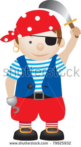 259x470 Children Dress As Pirate Clipart