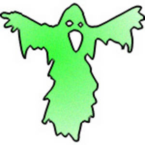 300x300 Ghost Clipart Green
