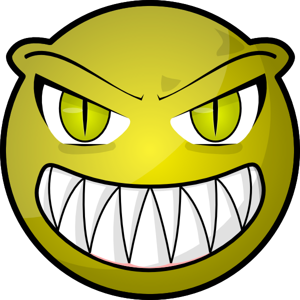 600x600 Scary Smiley Face Clipart