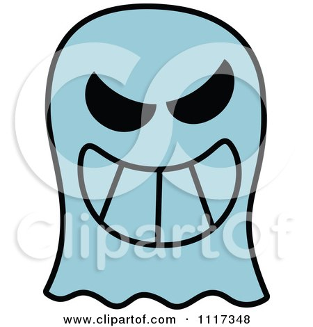 450x470 Cartoon Of A Halloween Ghost With A Naughty Grin