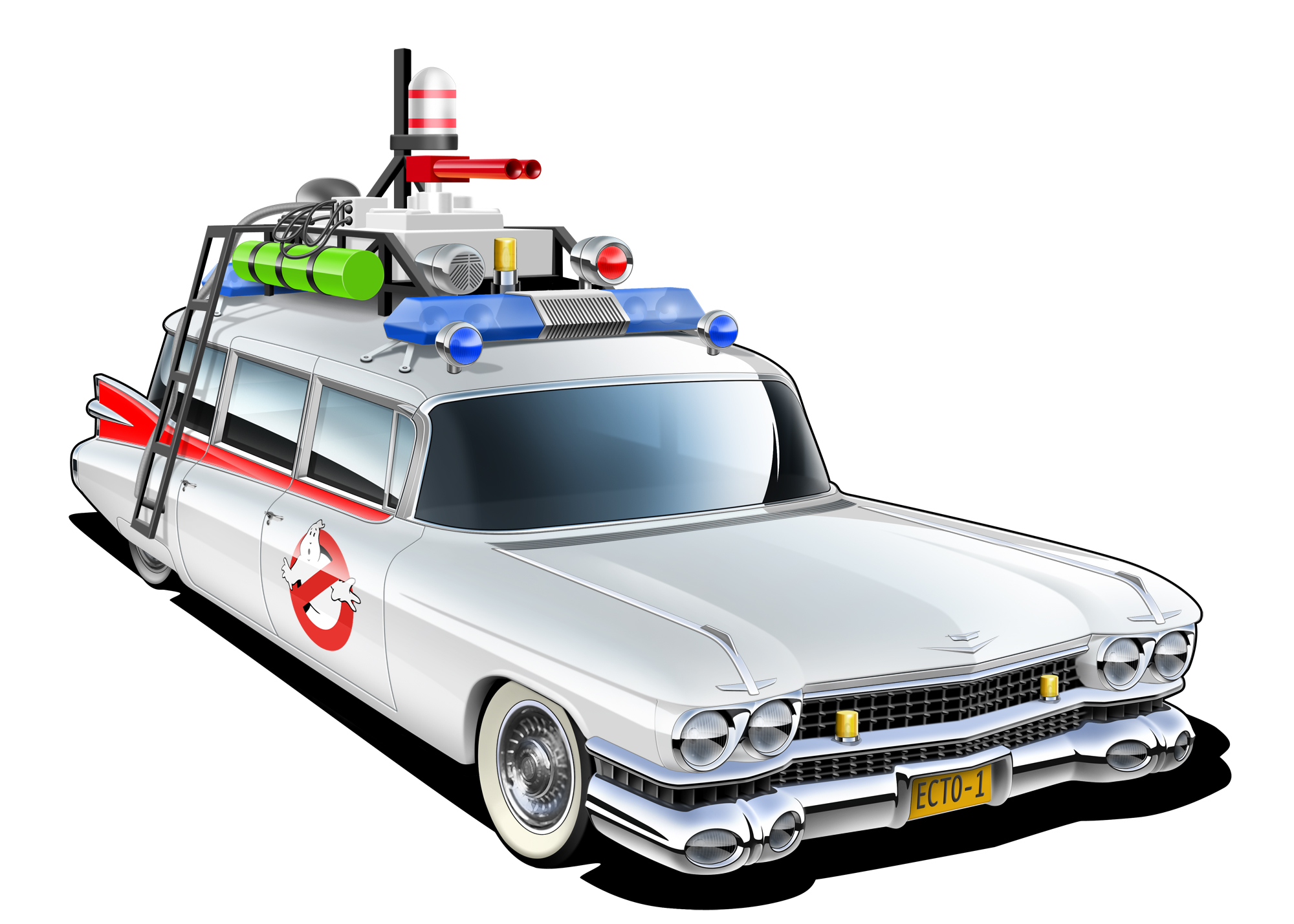 2000x1429 Ghostbusters Car Clipart