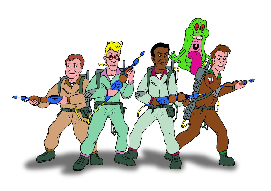 1024x724 The Real Ghostbusters By Mikedaws