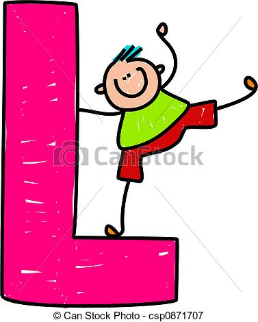 377x470 Clipart L Letter L Boy Happy Little Boy Balancing On A Giant