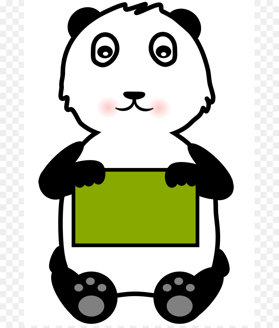 900x1060 Giant Panda Bear Clip Art