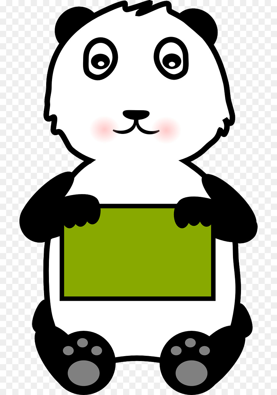 900x1280 Giant Panda Bear Clip Art