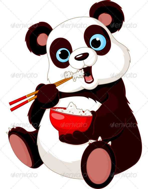 590x751 Panda Eating Rice Panda, Art Clipart And Bears