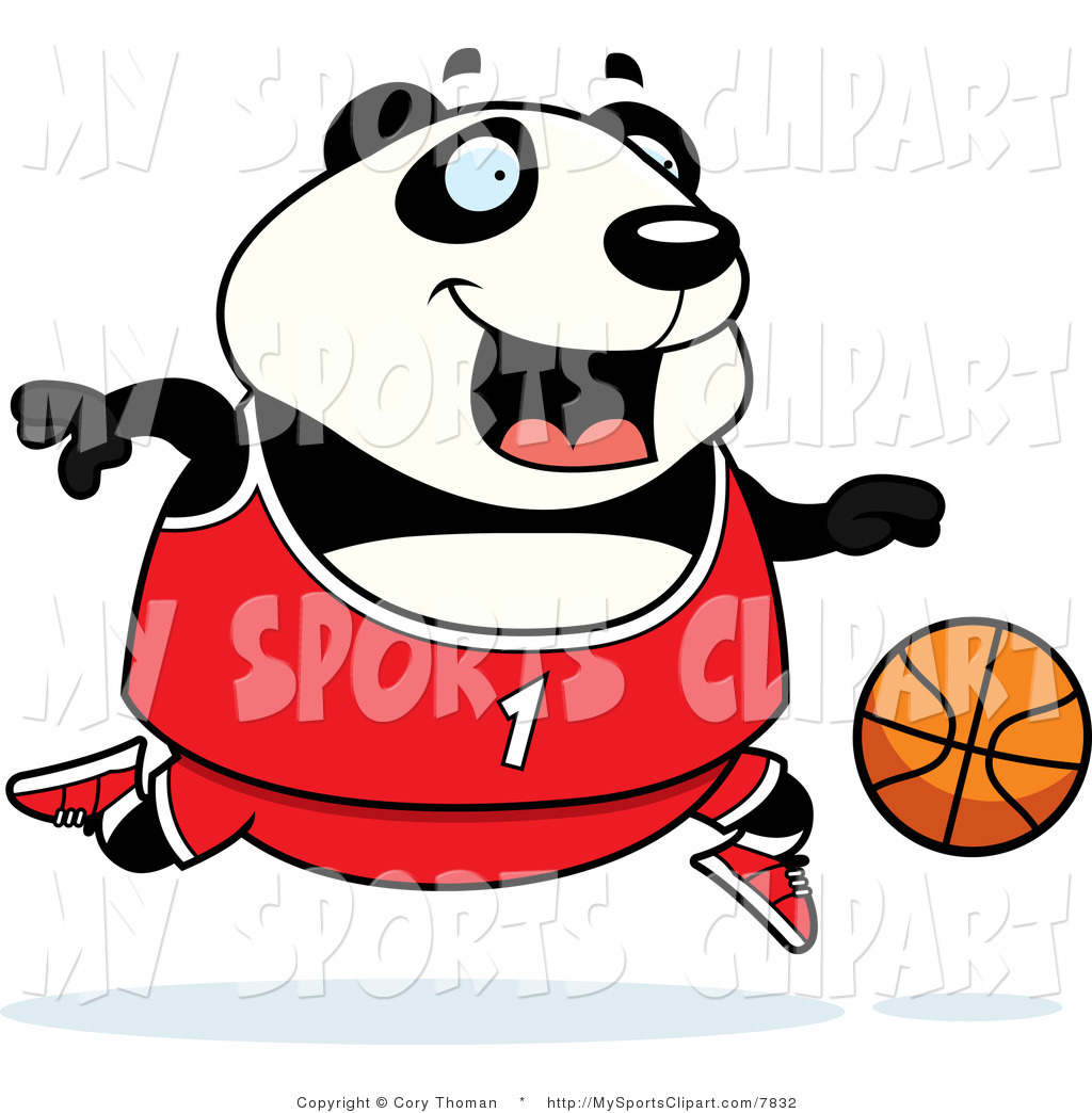 1024x1044 Sports Clip Art Of A Panda Playing Basketball In Red By Cory