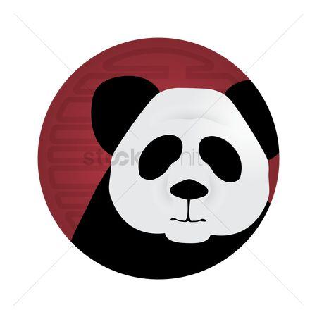 450x450 Free Giant Panda Head Stock Vectors Stockunlimited