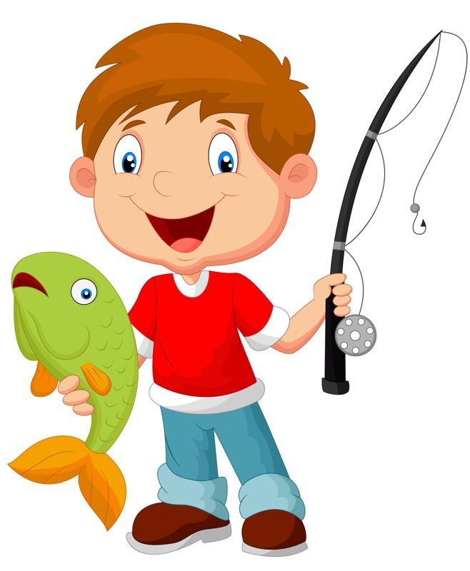 658x800 Clipart Catching Fish Royalty Free Fisherman A 388382 Vector Clip