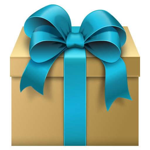 512x512 Gift Box With Blue Bow Free Clipart Clip Art Box