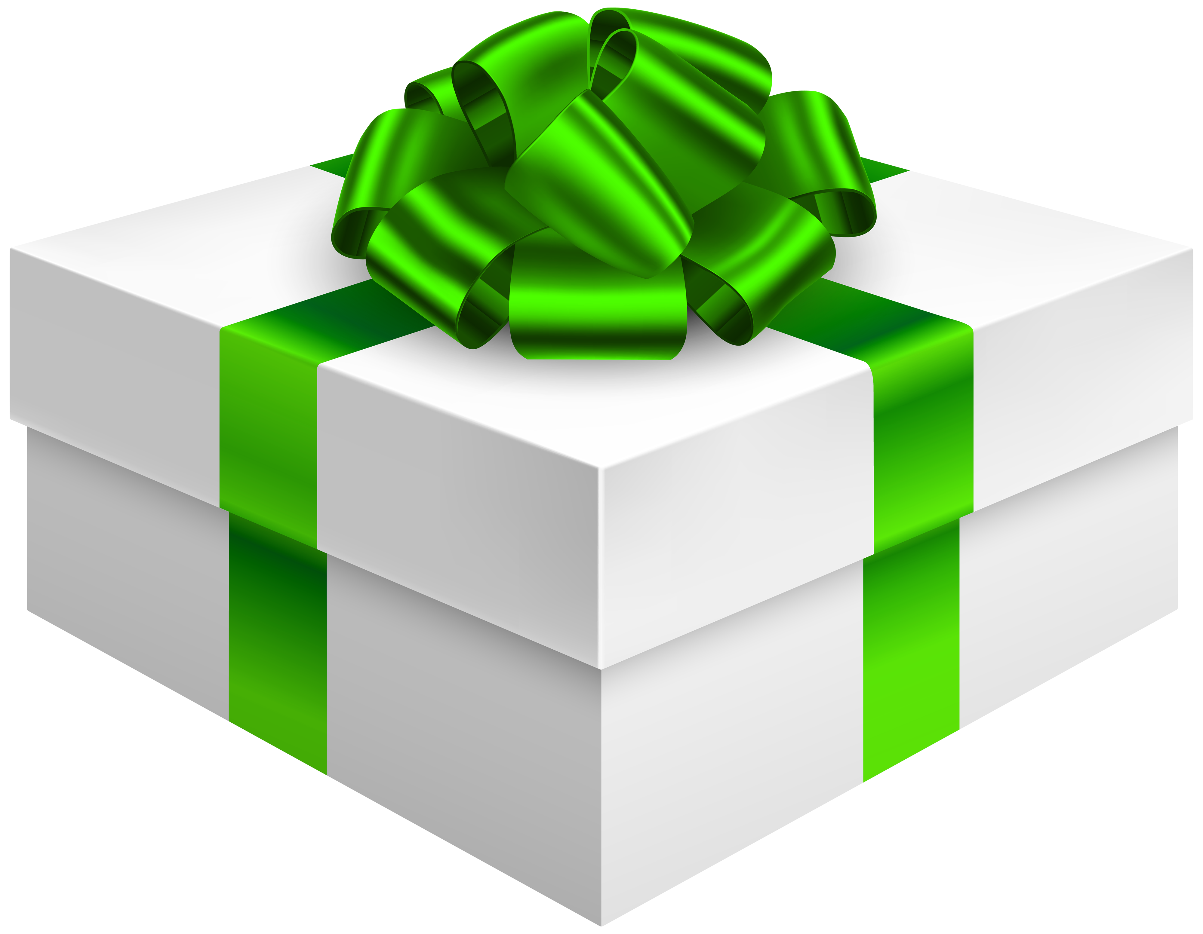 4000x3107 Gift Box With Bow In Green Png Clipart