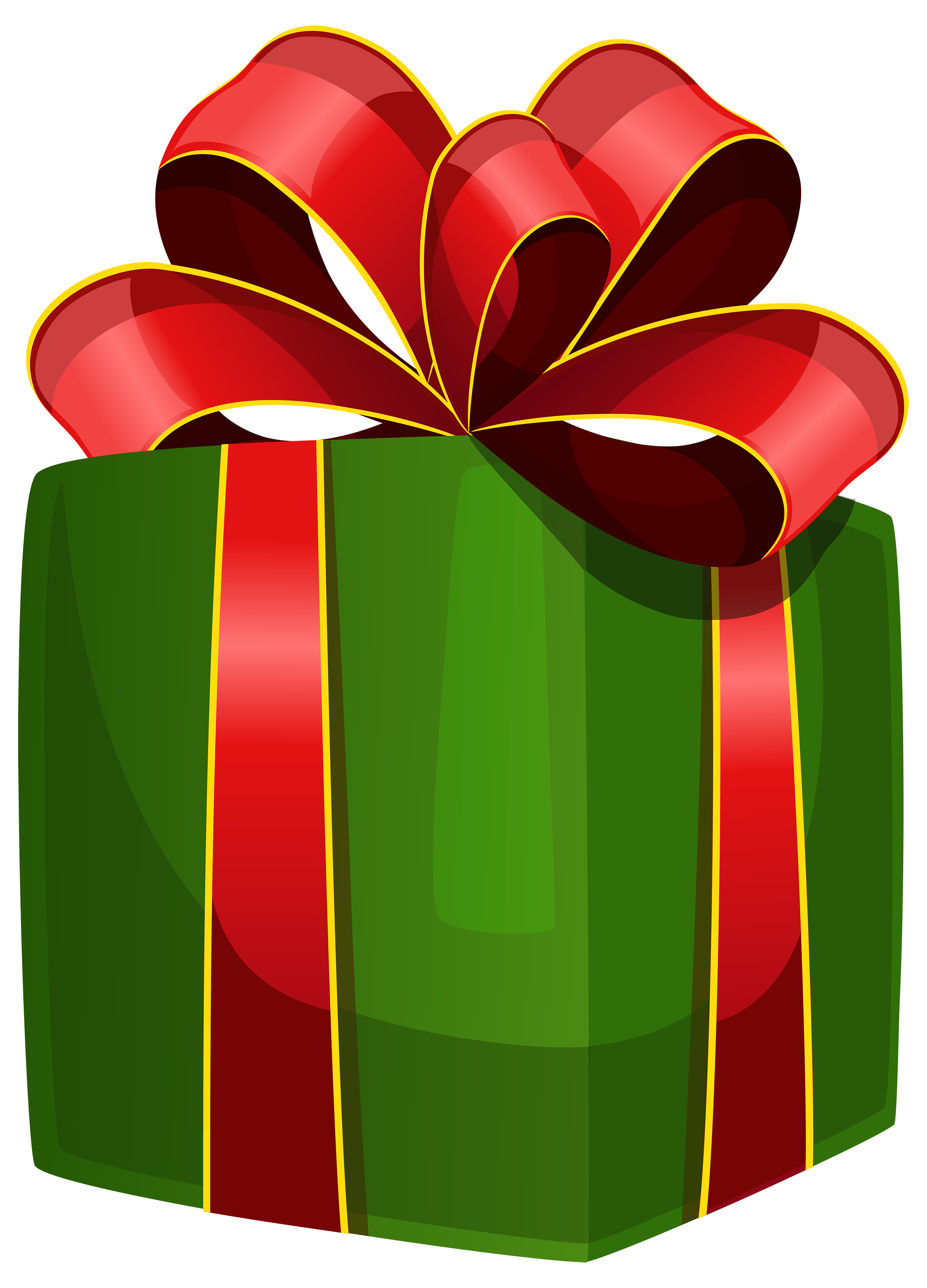 2520x3500 Green Gift Box Png Clipart