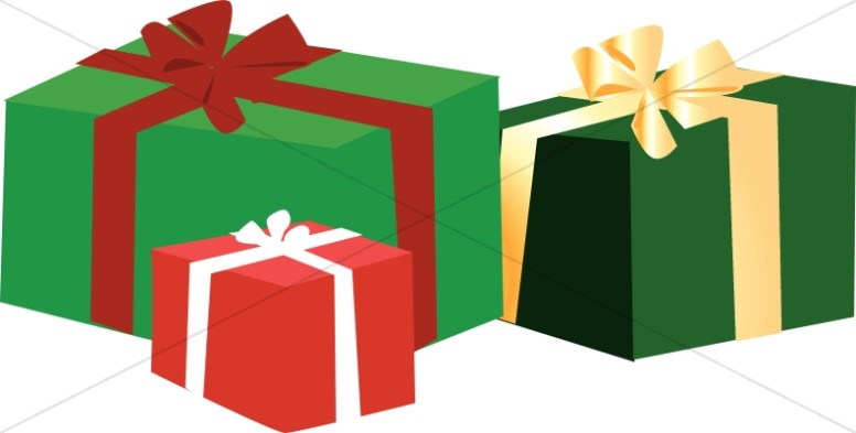 776x393 Christmas Gift Boxes Clip Art Happy Holidays!