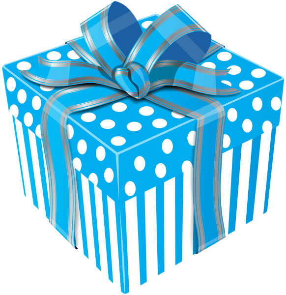 582x600 Cute Blue Gift Box Transparent Png Clip Art Image Gift Boxes