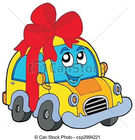 450x466 Car Gift On White Background