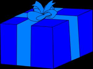 300x221 Gift Box Clipart Blue Gift Box Clip Art