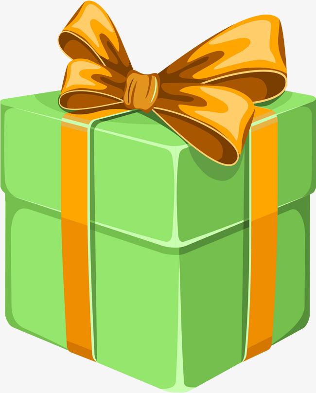 650x808 Green Cartoon Gift Box, Green Gift Box, Cartoon Box, Festival Gift