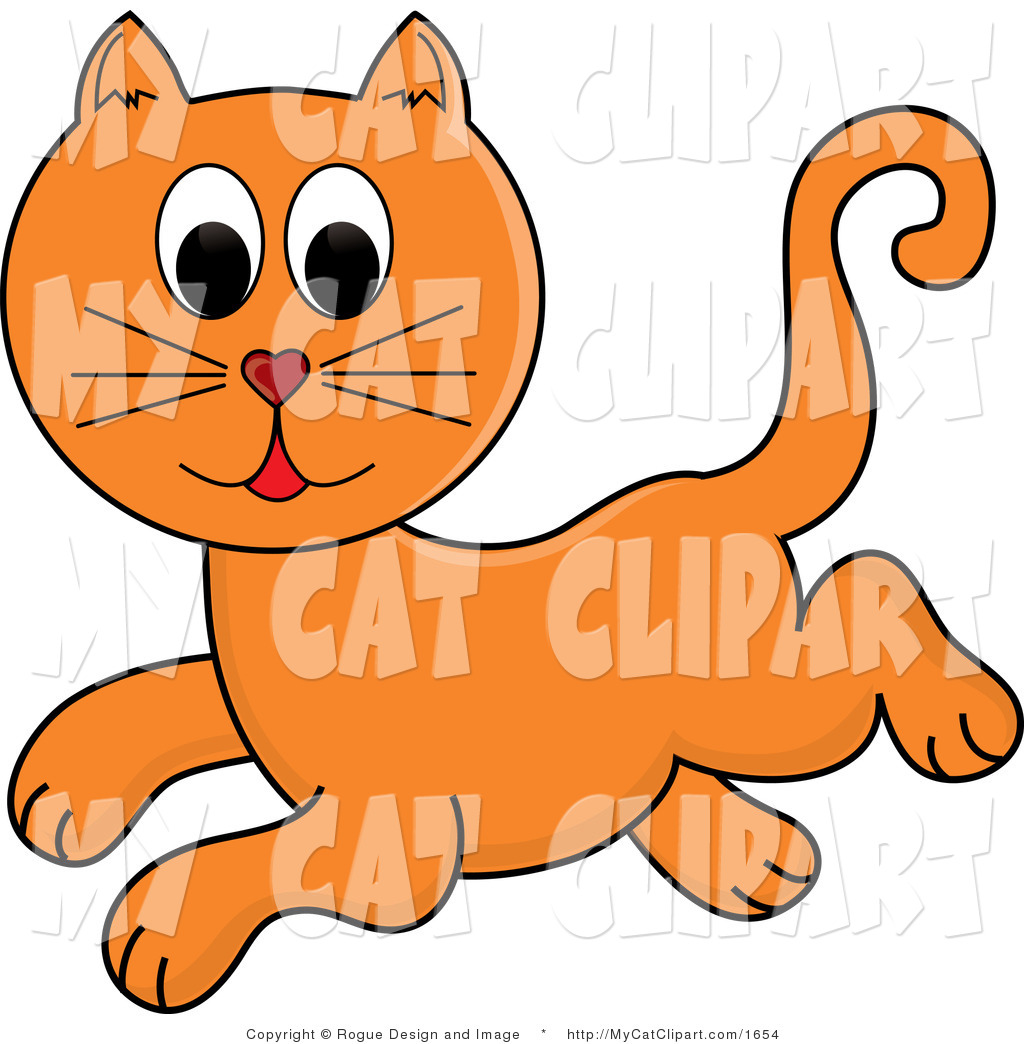 1024x1044 Vector Clip Art Of A Ginger Cat Jumping By Pams Clipart