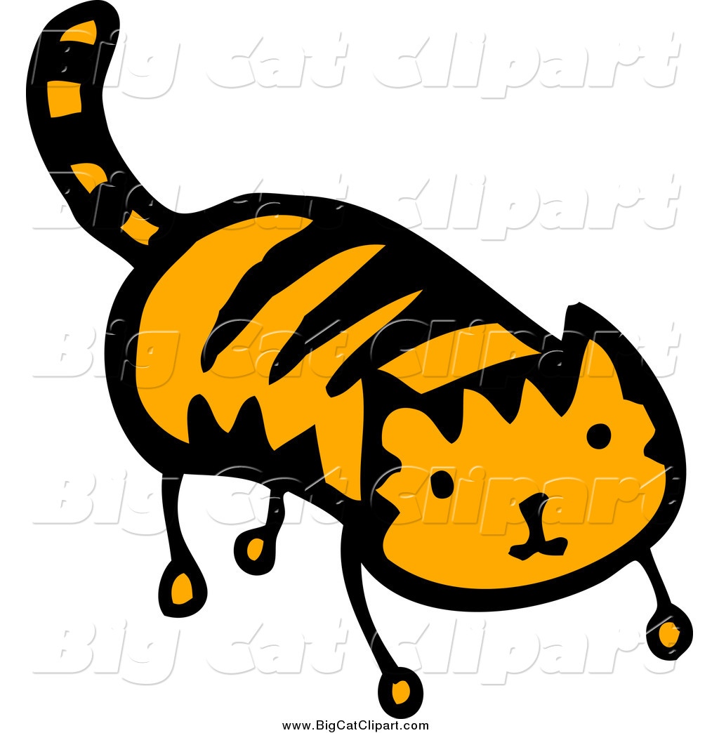1024x1044 Big Cat Cartoon Vector Clipart Of A Tiger Ginger Cat By