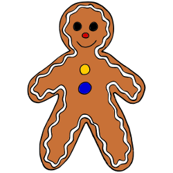 250x250 Christmas Gingerbread Man Clip Art Clip Art Gingerbread Image 2