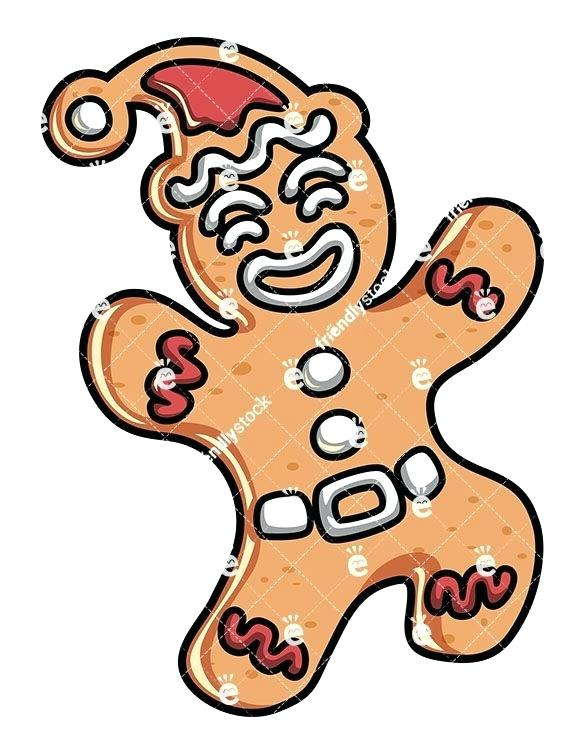585x755 Clip Art Gingerbread Man A Cute Gingerbread Man Royalty Free Stock