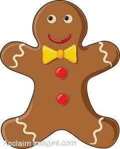 241x300 Clip Art Of A Smiling Gingerbread Man