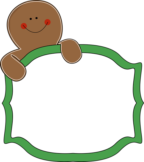 500x565 Free Gingerbread Clip Art Borders Gingerbread Man Sign Clip Art