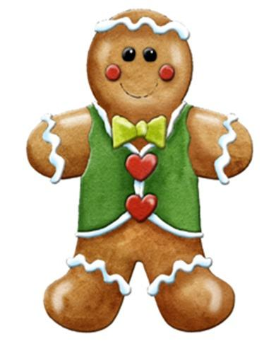 391x489 Gingerbread Boy And Girl Clipart