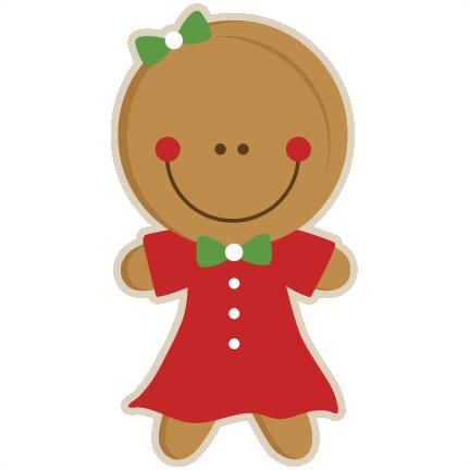 432x432 Gingerbread Girl Svg Scrapbook Cut File Cute Clipart Files