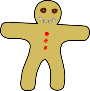 297x299 Gingerbread Man Clip Art Free Free Clipart Images 3 Image 2