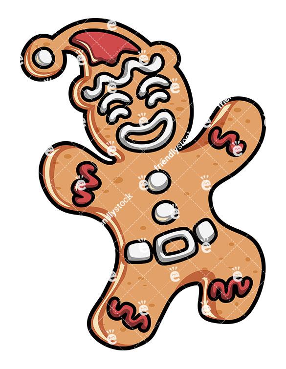 585x755 Cute Gingerbread Man Cartoon Character