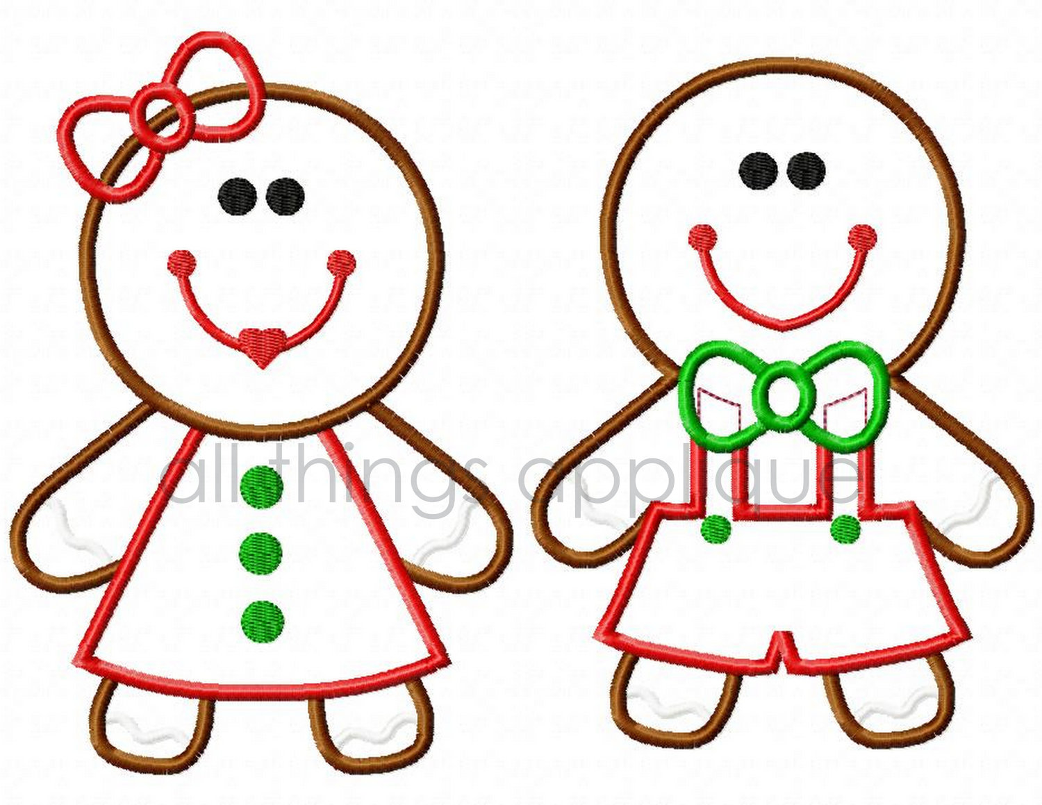 1500x1159 Gingerbread Boy And Girl Clipart