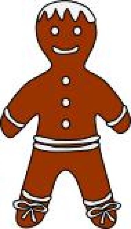 450x786 Gingerbread Girl Clipart