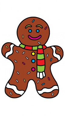 215x382 How To Draw Gingerbread Man, Christmas Items, Easy Step By Step