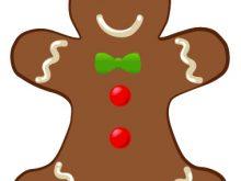 220x165 Gingerbreadman Clipart Gingerbread Man Wearing A Bow Tie Clip Art