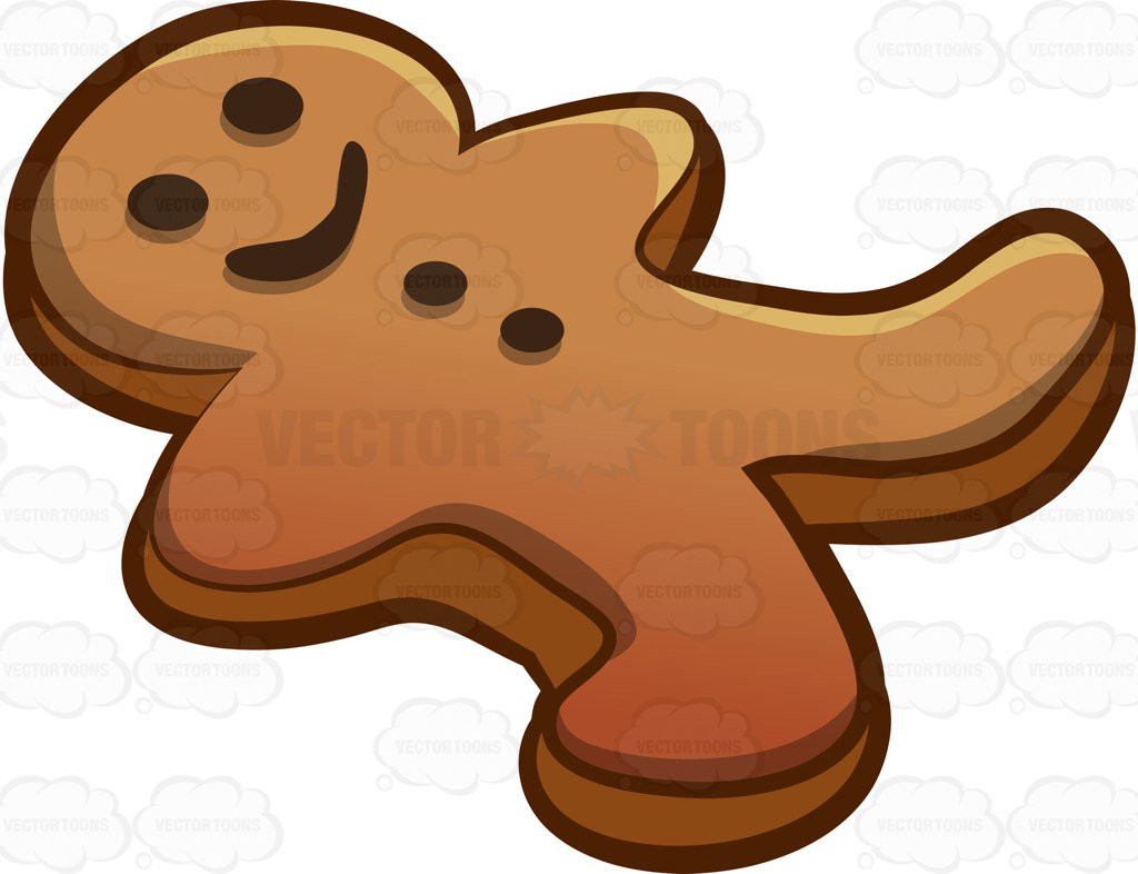 1024x786 A Gingerbread Man Cookie Cartoon Clipart Vector Toons Lovely Clip