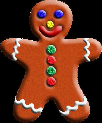 413x500 Free Gingerbread Man Clip Art 10
