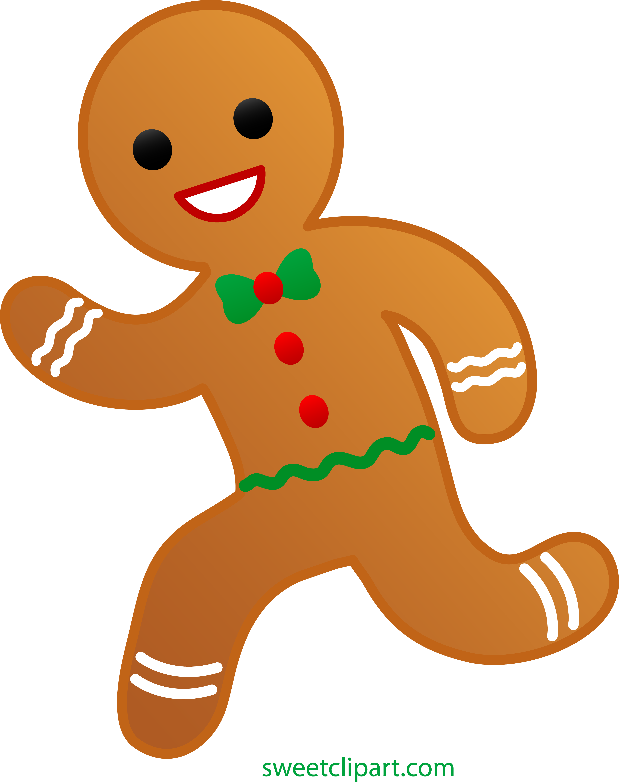 4739x6000 Gingerbread Man Running Clip Art