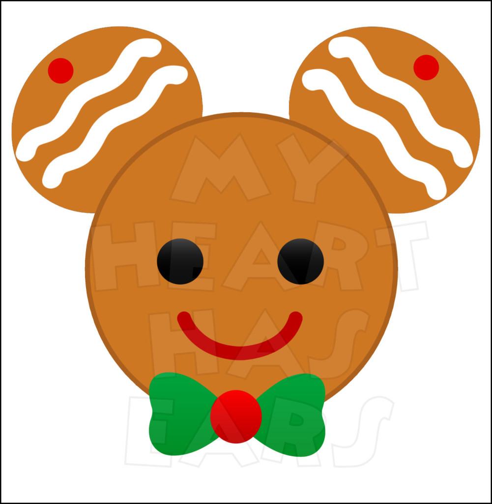 1001x1024 Gingerbread Mickey Mouse Instant Download Christmas Digital Clip