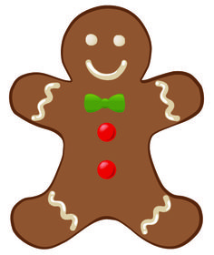 236x280 Gingerbread Clipart Free